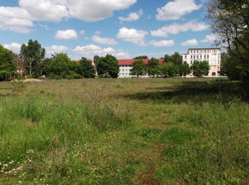 Der Bauplatz vor dem Baubeginn