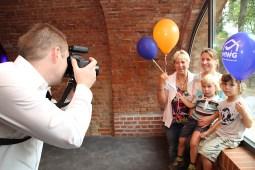 Fotoaktion auf dem Familienfest