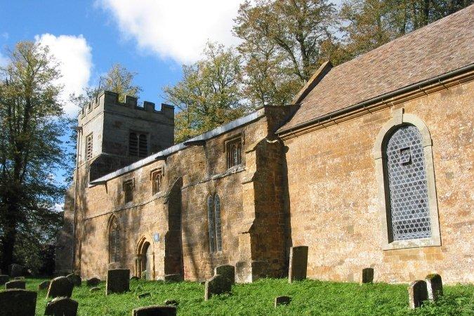 Exterior of All Saints' Church, Chadshunt, Warwickshire. Photo by Martin Beek (2006).