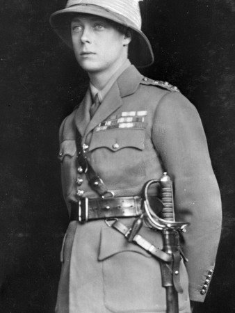 A very young Prince Edward, in his uniform.