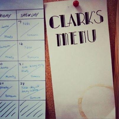 Clarks Menu