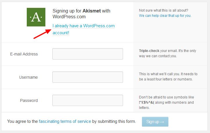 akismet Sign up for WordPress - مجلة ووردبريس