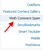 math comment spam protection step 2