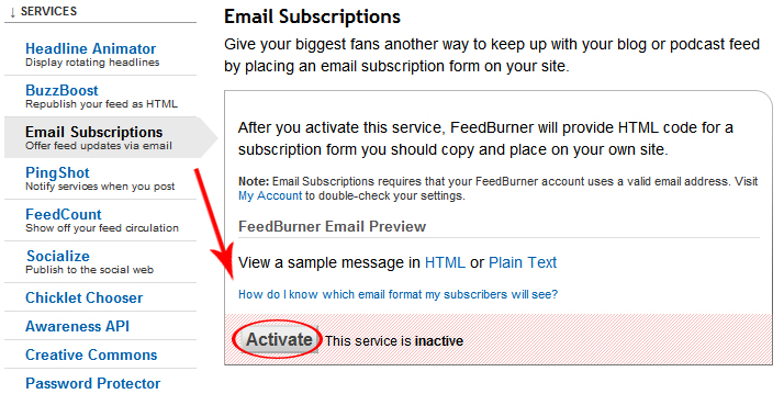 Email Subscriptions active - مجلة ووردبريس