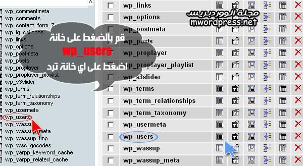 select wp users phpmyad  - مجلة ووردبريس