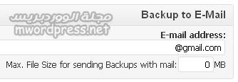 BackWPup email setting - مجلة ووردبريس