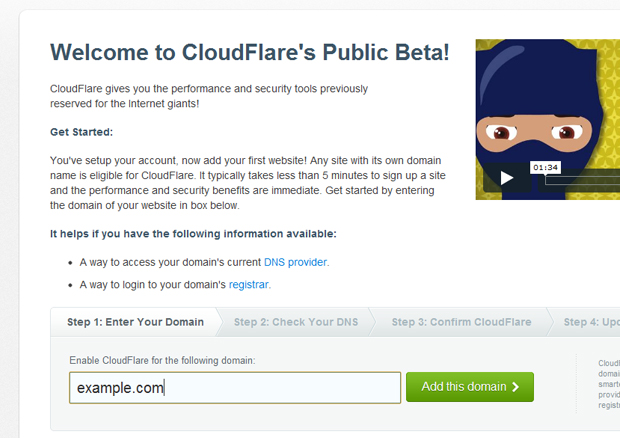 cloudflare add domain - مجلة ووردبريس