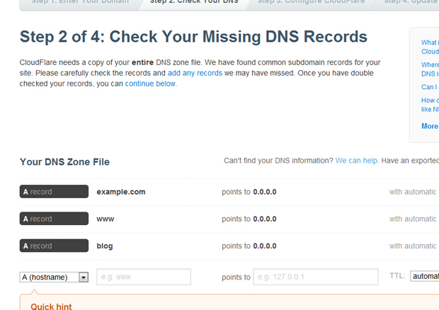 cloudflare chek missing dns records - مجلة ووردبريس