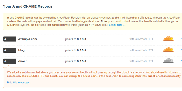 cloudflare final list dns records - مجلة ووردبريس