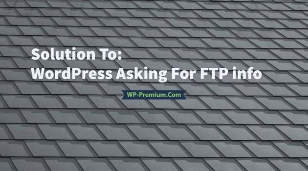 حل مشكلة عرض اتصال FTP ووردبريس 3.3 والنسخ السابقة