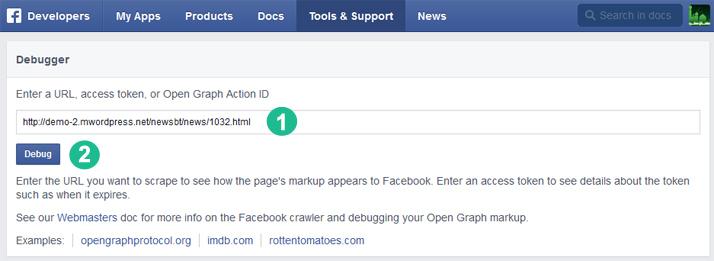 facebook debugger image - حل مشكلة صور الفيسبوك