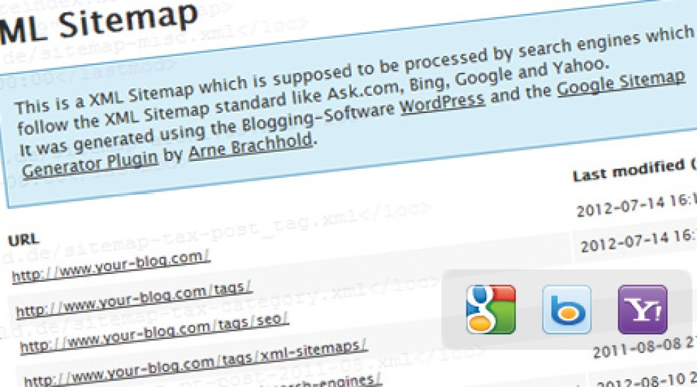 اعداد اضافة Google XML Sitemaps لتعمل مع W3 Total cache