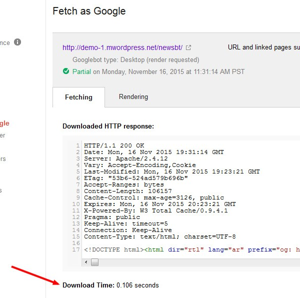 newsbt search console fetch as google  - مجلة ووردبريس