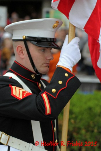 Presentation of the colors by the USMC
