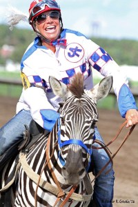 Outrider Tara Le Coombs dominated the zebra race.