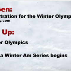 Winter Olympics – Mini O's Pre-Registration and Race Schedule