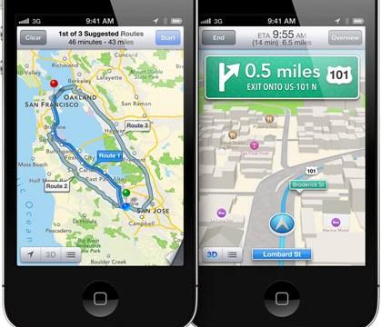 iPhone 4 บน iOS6 อดใช้งานแผนที่ 3 มิติบวกกับ Turn by turn Navigation