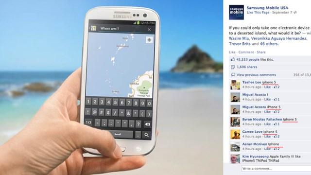 หน้าแตกยับ วิธีโปรโมทของ Samsung บน Facebook โดนแฟน Apple อัดเละ