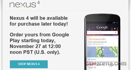 ขายดีจนต้องรอซื้อ!!! Google Nexus 4 ล็อตใหม่กำลังมาให้ซื้อ