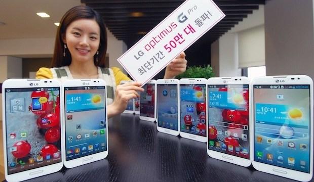 LG ขาย Optimus G Pro ทะลุ 5 แสนเครื่องแล้วที่ประเทศเกาหลีใต้บ้านเกิด