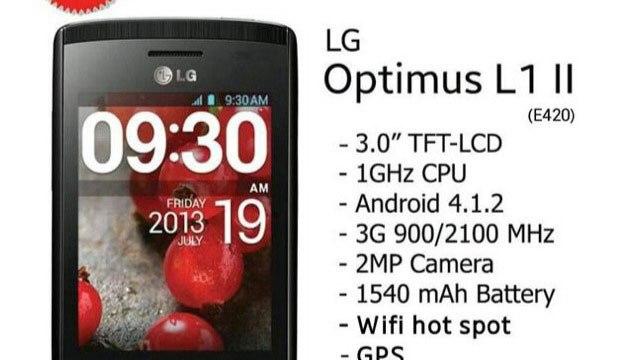 [TME] AIS เตรียมขาย LG L1 II สมาร์ทโฟน 3G สองซิม ราคาสบายเป๋า 2,390 บาท