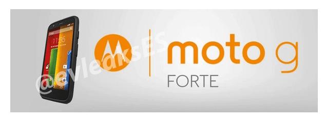 Moto G อาจจะมีรุ่นทนถึก กันน้ำและฝุ่นในนาม Moto G Forte