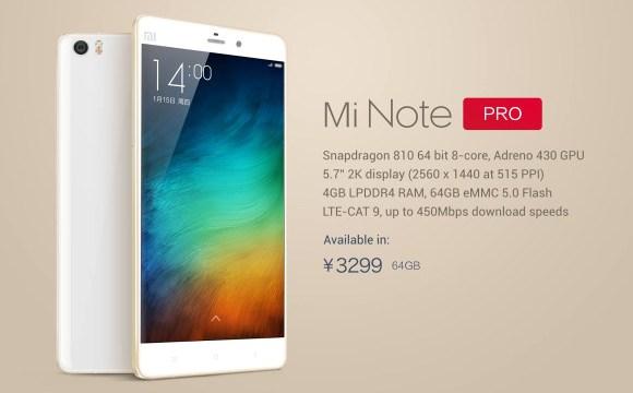 แน่นอนว่า Xiaomi ไม่ได้เปิดตัวแค่ตัวเดียว ยังมี Mi Note PRO ตามมาด้วย