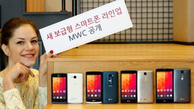 LG เผยโฉมสมาร์ทโฟนระดับกลาง 4 รุ่นใหม่ Magna, Spirit, Leon และ Joy พร้อมลุย MWC2015