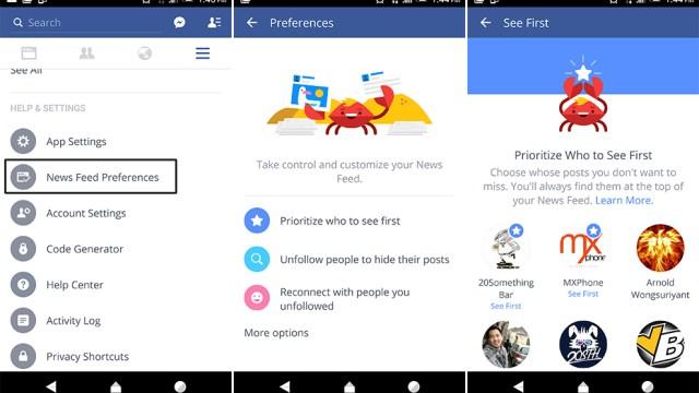 Facebook App อัพเดทใหม่ ปรับปรุงหน้า News Feed ตั้งค่าการแสดงโพสได้ดีขึ้น