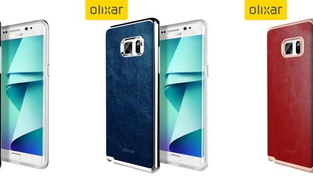 ภาพตัวเคสคอนเฟิร์ม Samsung Galaxy Note7 มีรุ่นจอโค้ง