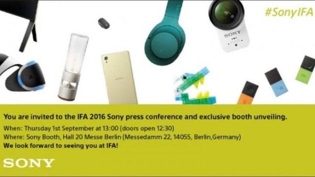 Sony ขนผลิตภัณฑ์เปิดตัวที่งาน IFA 2016 มี Xperia รุ่นใหม่ด้วย
