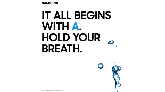 ทีเซอร์ยืนยัน Samsung Galaxy A รุ่นปี 2017 มาพร้อมคุณสมบัติกันน้ำ