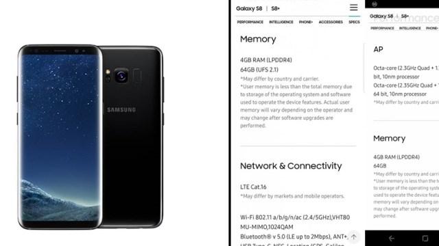 พบ Samsung Galaxy S8 เครื่องนอกบางส่วน ใช้หน่วยความจำทั้งแบบ UFS 2.1 / 2.0