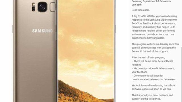 Samsung เตรียมปิดโปรแกรม Oreo beta สำหรับ Galaxy S8 / S8+ วันที่ 26 ม.ค.นี้