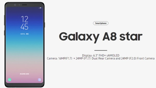 Samsung Galaxy A8 Star มาแน่ 1 ก.ค. นี้ เคาะราคาที่ 17,990 บาท