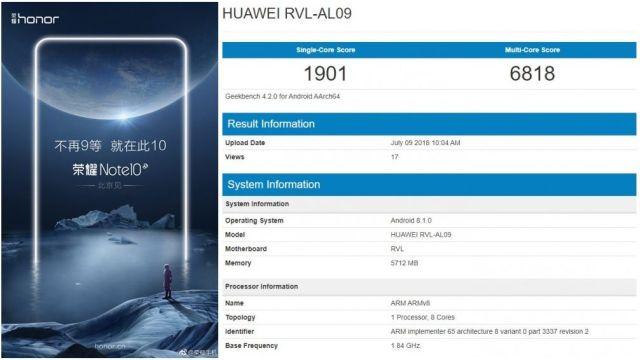 Huawei ส่งทีเซอร์ยืนยันเรือธง Honor Note 10 มาแน่เร็วๆนี้