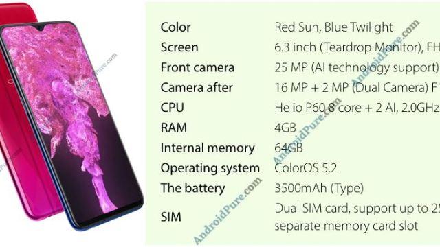 หลุดสเปค OPPO F9 สมาร์ทโฟนระดับกลางรุ่นใหม่ ก่อนเปิดตัว 15 ส.ค.