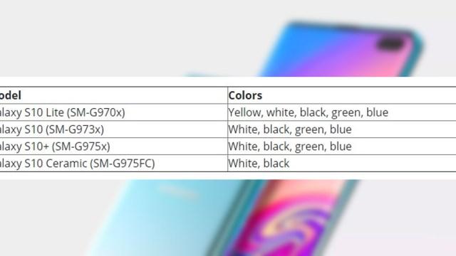 Samsung Galaxy S10 Lite อาจจะมีตัวเลือกสีมากกว่าโมเดลอื่น