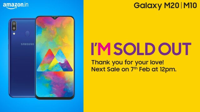 Samsung ปลื้ม Galaxy M10 และ M20 ขายล็อตแรกหมดในพริบตา