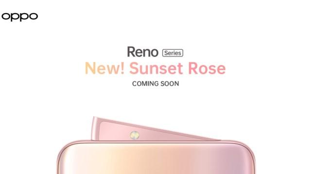 OPPO Reno Series เปิดตัวสีใหม่ Sunset Rose สง่างาม พร้อมสะกดทุกสายตา