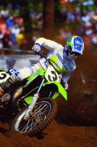 Jeff Ward op de Kawasaki KX 500.