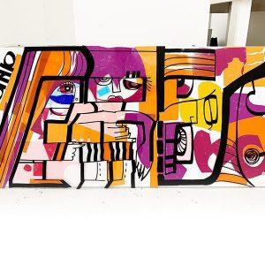 Tableau en Lexan de l'artiste aNa format 1000x500mm Totem Box Small disponible à la vente sur My Art Box