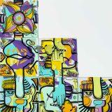 montage d'une fresque plexi animation puzzle télétravail