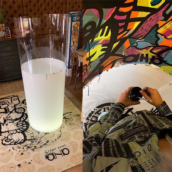 aNa artiste organise un Team Building Fresque à distance identique au présentiel mais en visio conférence