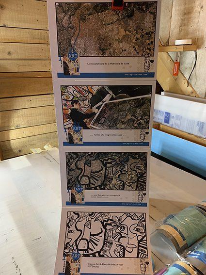 modèle de Lyon pour kit art box d'experience artistique par ana artiste