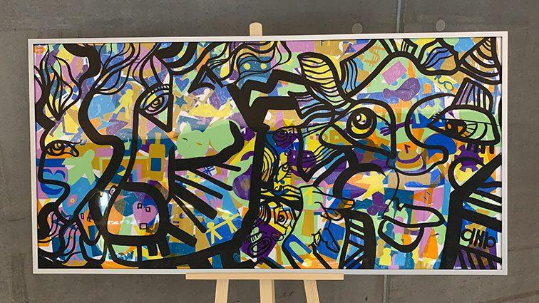 Fresque Lyon Exposée afin de démontrer Les bienfaits de l'activité créative sur la productivité au travail.