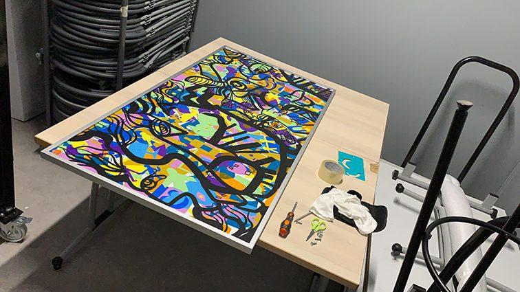 Fresque Plexiglass Lyon Totem Box My Art Box