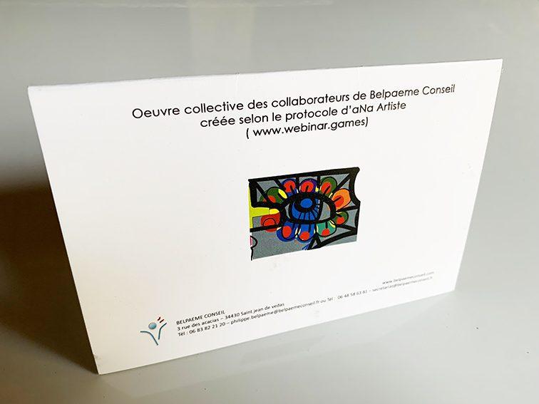 Quelle carte de voeux originale peut-on créer avec les collaborateurs d'une entreprise grace aux protocoles de fresque participative de aNa artiste