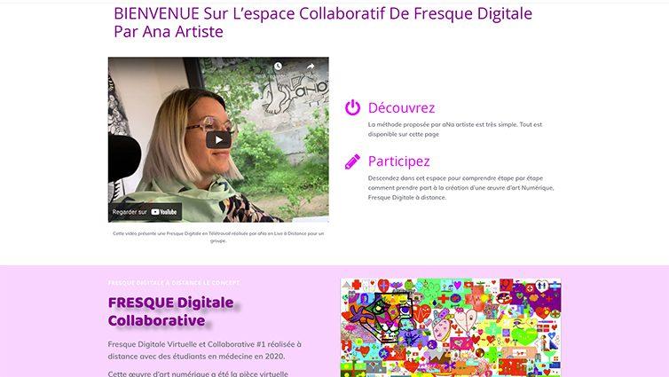 idée d'événement à la demande original accueilli en ligne part aNa artiste pour créer ensemble une fresque digitale