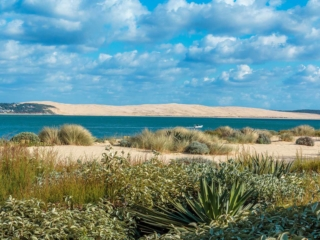 La dune du Pilat vue depuis la pointe du Cap Ferret